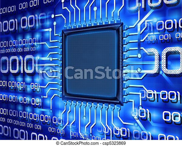 Chip de ordenador binario - csp5323869