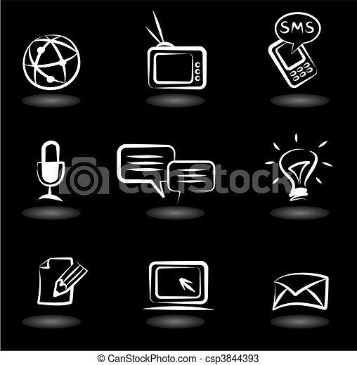 iconos de comunicación 5 - csp3844393