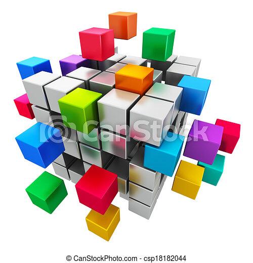 Trabajo en equipo, Internet y el concepto de comunicación - csp18182044
