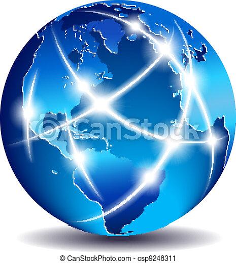 Comunicación mundial de comercio global - csp9248311