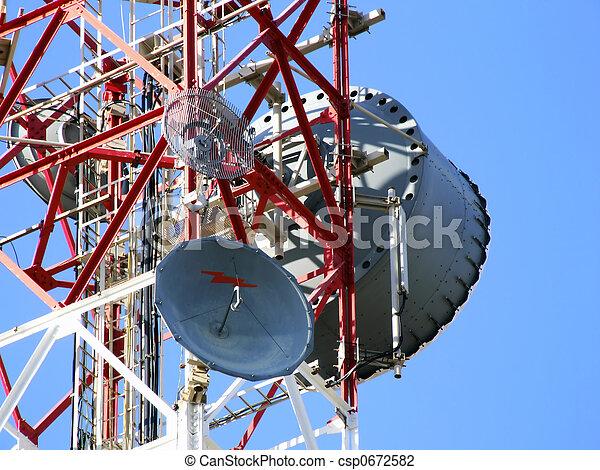 La antena de comunicaciones - csp0672582