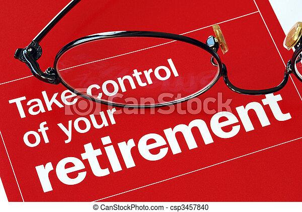 Concéntrate y toma el control de tu jubilación - csp3457840