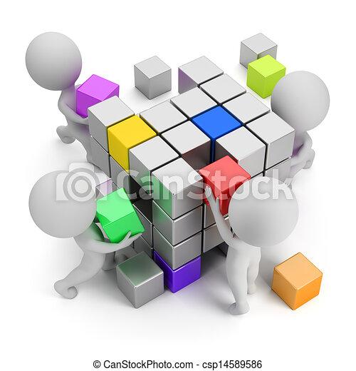 3d gente pequeña - concepto de crear - csp14589586