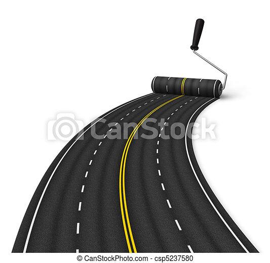 Concepto de construcción de carreteras - csp5237580