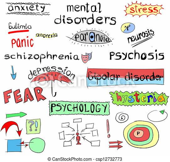 Concepto de desordenes mentales - csp12732773