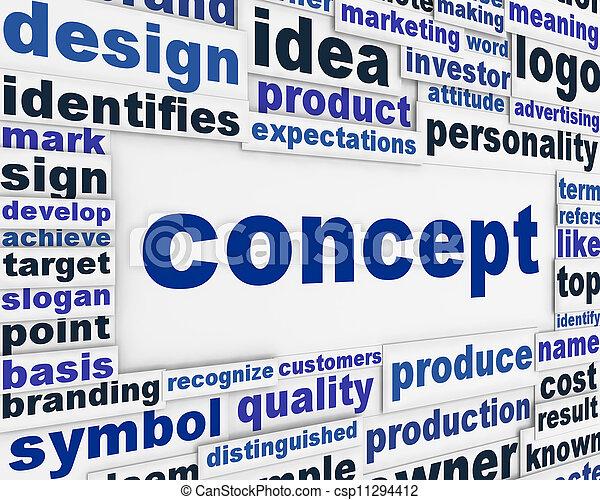 Concepto diseño de carteles - csp11294412