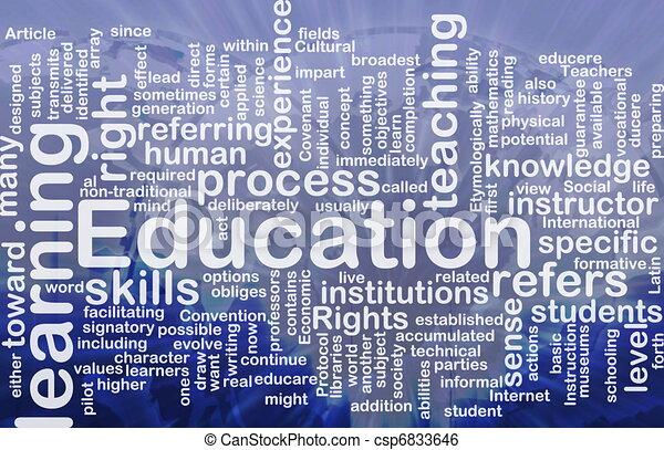 Concepto de educación - csp6833646