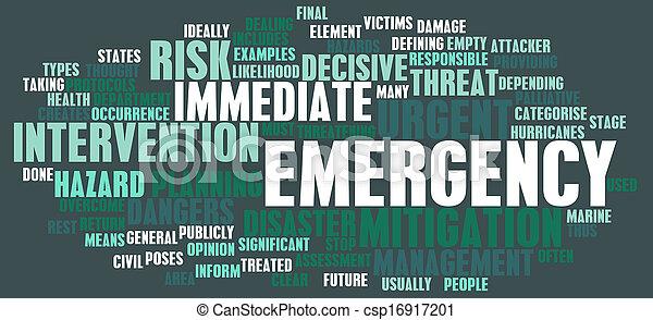 Concepto de emergencia - csp16917201