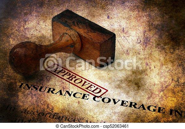 Cobertura de seguro - concepto aprobado grunge - csp52063461