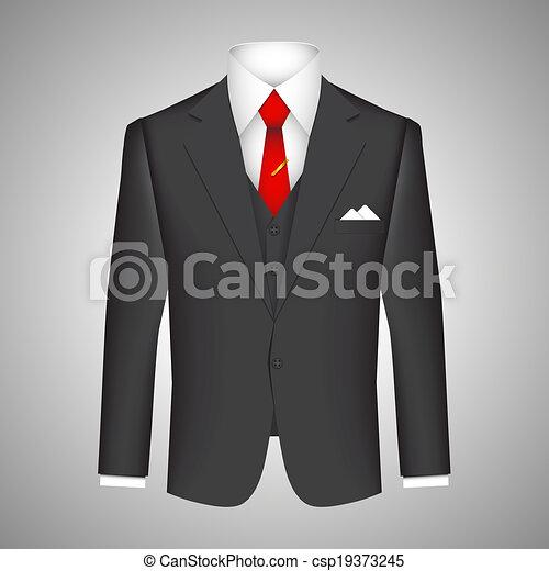 El concepto de traje de negocios - csp19373245