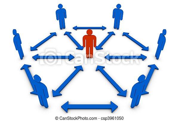 El concepto de líder de equipo - csp3961050