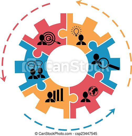 Concepto para manejo de proyectos con equipo - csp23447545