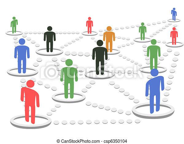 El concepto de la Red de Negocios - csp6350104