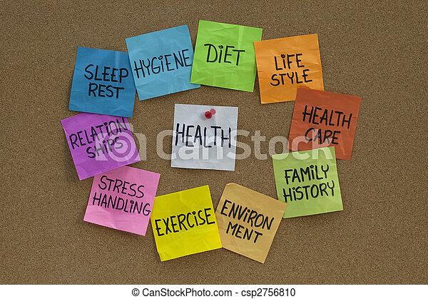 El concepto de salud: nube de palabras y temas relacionados - csp2756810