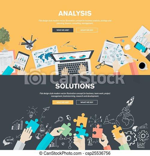 Conceptos planos de diseño para los negocios - csp25536756