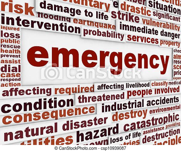 Mensaje de emergencia de fondo conceptual - csp10939087