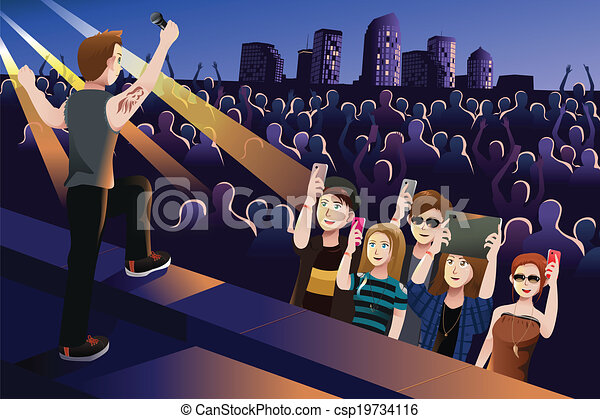 Gente en un concierto - csp19734116