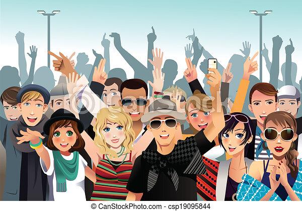 Gente en un concierto - csp19095844