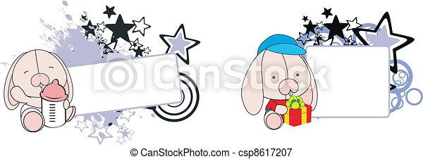 Conejita de dibujos animados - csp8617207