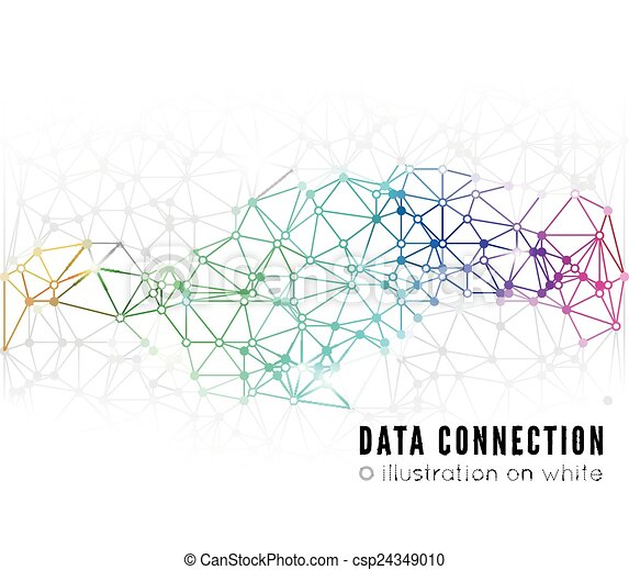 Conexión de red abstracta - csp24349010