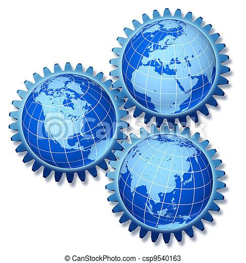 Conexiones económicas mundiales - csp9540163