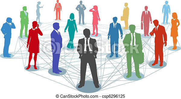Conectar las conexiones de los empresarios - csp6296125