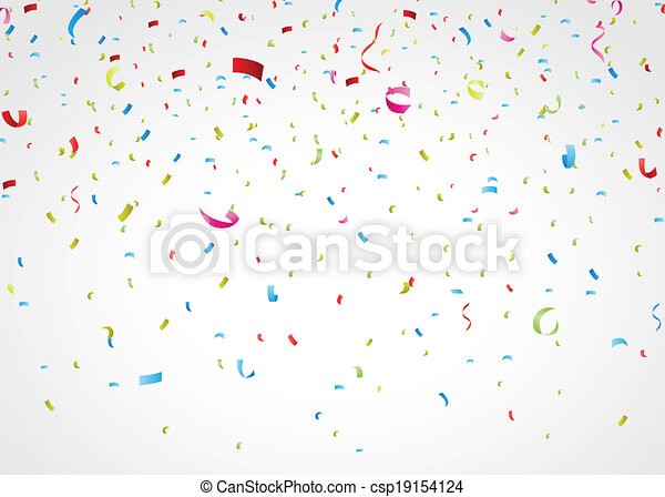 Confeti colorido en blanco - csp19154124