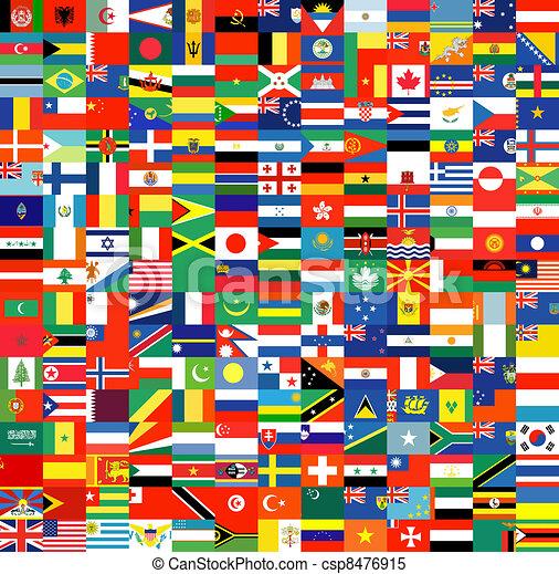 Un conjunto completo de banderas - csp8476915