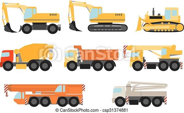 Vehículos de construcción listos - csp31374881
