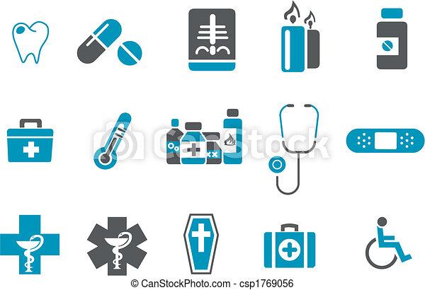 Juego de iconos de la salud - csp1769056
