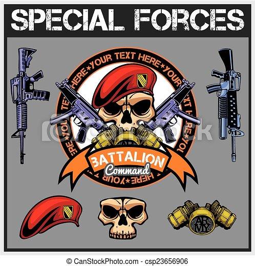 El parche de las fuerzas especiales, vector de acciones - csp23656906