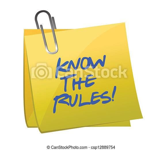 Conocer las reglas escritas en un correo - csp12889754