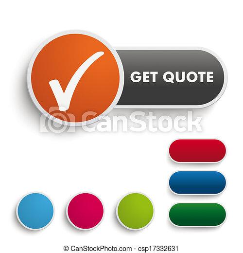 Consigue un botón negro naranja - csp17332631
