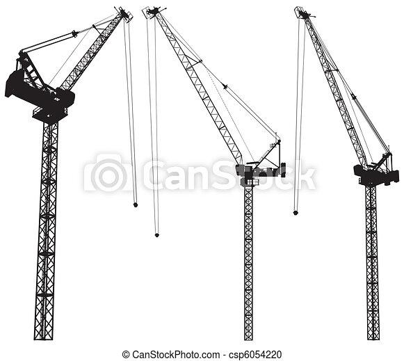Elevando la grúa de construcción - csp6054220