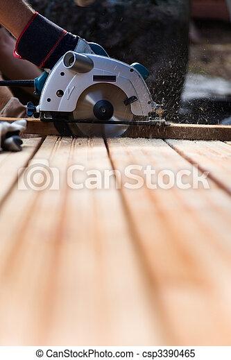 Construir un patio - csp3390465