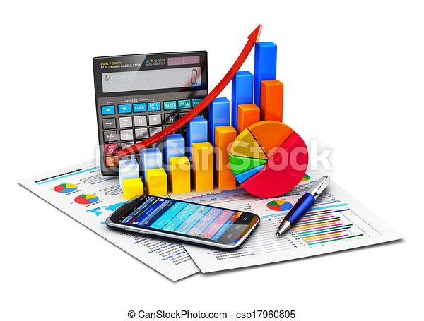 Estadísticas financieras y concepto de contabilidad - csp17960805