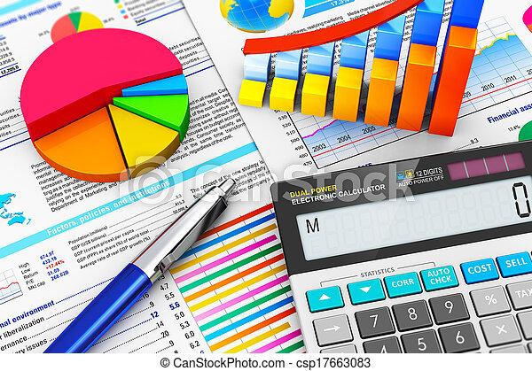 Negocios, finanzas y concepto de contabilidad - csp17663083