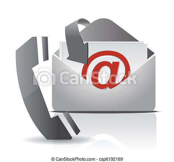Contacta con el diseño de ilustración - csp6192169