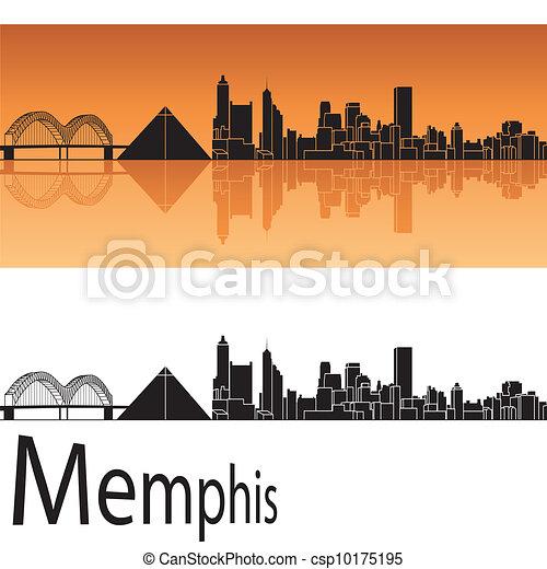 Memphis Skyline - csp10175195