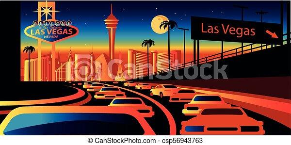 Las Vegas nevada skyline - csp56943763