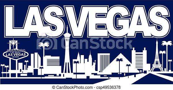El horizonte de Las Vegas - csp49536378