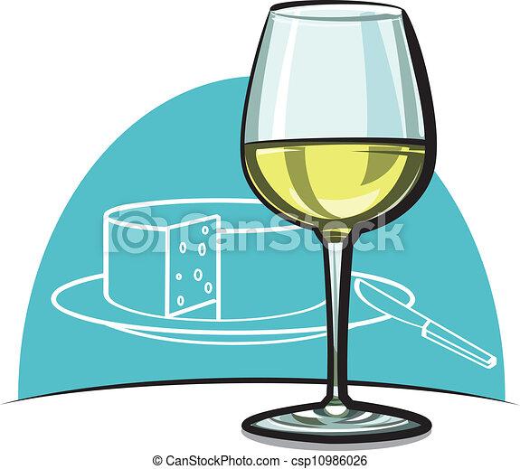 Vino blanco con vino seco - csp10986026