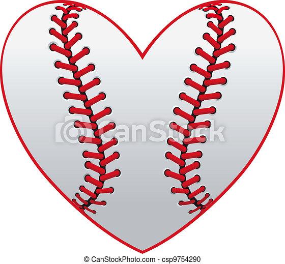 Corazón de béisbol - csp9754290