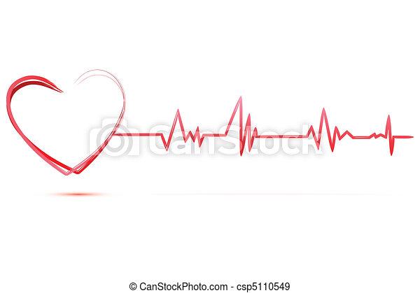 Corazón con cardiología - csp5110549