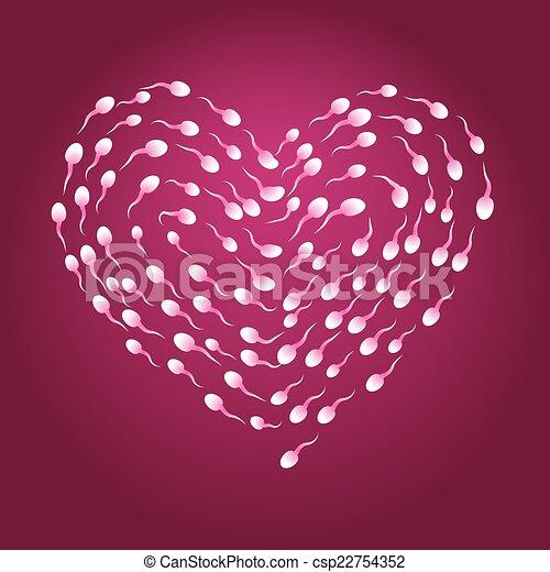 Corazón de esperma - csp22754352