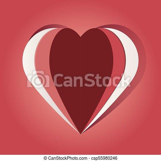 El papel cortó el corazón - csp55980246