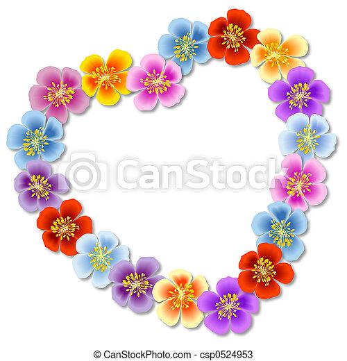 Flores corazón - csp0524953