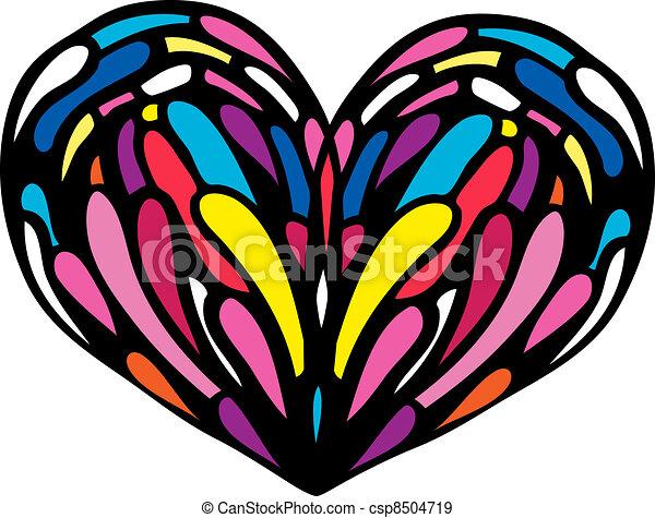 Ilustración cardíaca. - csp8504719
