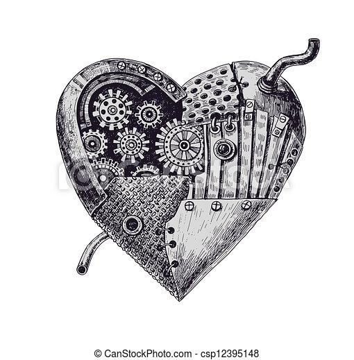 Corazón mecánico - csp12395148