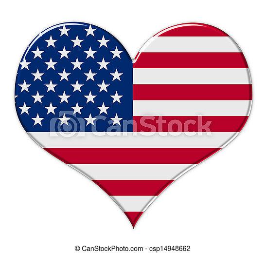 Corazón americano - csp14948662